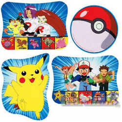POKEMON Pikachu CUTOUT DECORATIONS 4 Birthday Party Supplies Paper Room $5.89