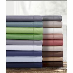 Extra Deep Pocket Sateen 750 Thread Count Cotton Sheet Set with Oversize Flat Sh
