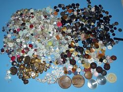 Buttons 2 Pounds Sewing Arts & Craft Mixed Old Button Lot Supplies Vintage Sew