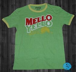 New Mello Yellow Retro Coke Rustic Vintage Mens T Shirt $18.95
