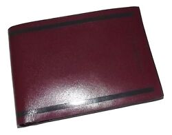 NEW MANDARINA DUCK MEN'S ITALIAN LEATHER BIFOLD 8 POCKET CARD WALLET CORDOVAN