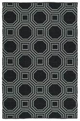 BLACK OUTDOOR RUGS TRANSITIONAL RUGS  8X10 [8' X 10' ]  LIVING DINING ROOM RUG