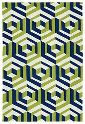 BLUE OUTDOOR RUGS CONTEMPORARY RUGS  9X12 [9' X 12' ]  PATIO PORCH CARPET