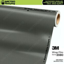 3M 1080 BR201 BRUSHED STEEL Vinyl Vehicle Car Wrap Decal Film Sheet Roll
