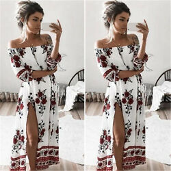 Fashion Women Summer Boho Beach Dress Evening Cocktail Party Long Maxi Dress $18.29