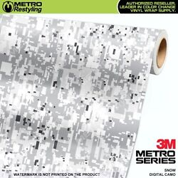 DIGITAL SNOW Camouflage Vinyl Car Wrap Camo Film Decal Sheet Roll Adhesive