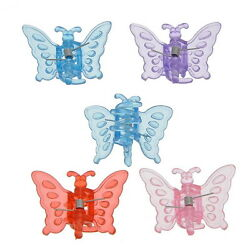 Wholesale Lots Plastic Hair Claw Hair Clamp Clip Butterfly 3.8x3.1x2cm Mixed GW