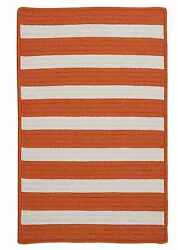 Stripe It TR19 Tangerine IndoorOutdoor Rug