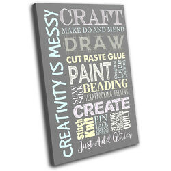 Hobby Art Sewing Creative Typography SINGLE CANVAS WALL ART Picture Print $64.99