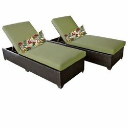 Miseno CLASSIC-2x-CILANTRO Traditions 2-Piece Outdoor Chaise Lounge Chair Set