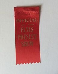 ELVIS PRESLEY-STUNNING FIFTIES 100% ORIGINAL SILK SHOW PASS-VERY VERY RARE