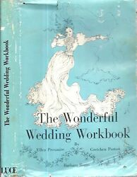 RARE 1971 WONDERFUL WEDDING WORKBOOK ILLUSTRATED WITH DUST JACKET FIRST EDITION $19.99