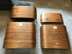 Herman Miller Charles Eames Lounge Chair and Ottoman Wood Parts-Walnut