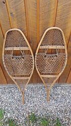 VINTAGE Snowshoes 41quot; Long x 14quot; Wide VERY OLD Great for DECORATION $79.95