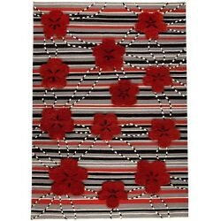 M.A.Trading Hand-woven Kingston Red Wool Rug (8'3 x 11'6) (India)