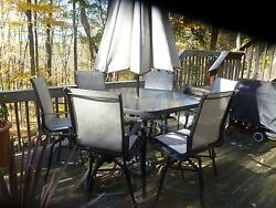 Fortunoff High Dining Patio Set