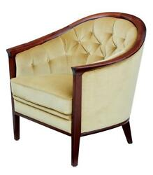 1960's TEAK HORSESHOE ARMCHAIR BY ANDERSSON