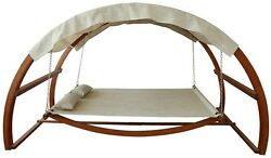 Patio Swing Bed Hanging Modern Hammock Lounge Sturdy Support Canopy Garden Deck