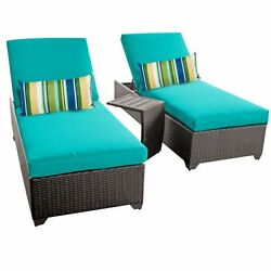 Miseno CLASSIC-2x-ST-ARUBA Traditions 3-Piece Outdoor Chaise Lounge Chair Set