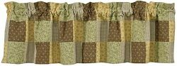 Greens and Browns Patchwork Peaceful Cottage Valance by Park Designs 60x14 One