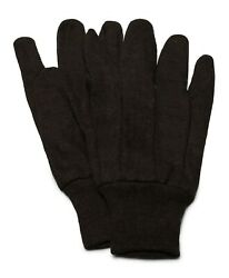 Cotton Brown Jersey Work Gloves Fits Most Gardening Choose Your Size