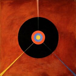 PAINTING HILMA AF KLINT 1915 THE SWAN NO LARGE WALL ART PRINT POSTER LF2649 $16.75