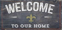 New Orleans Saints Welcome to our Home Wood Sign - NEW 12