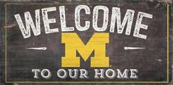 Michigan Wolverines Welcome to our Home - Wood Sign NEW 12