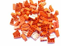LEGO Red Wedge 3x2 Left Lot of 100 Parts Pieces 6565 $5.39