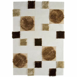 M.A.Trading Hand-tufted Anatolia Natural Wool Rug (6'6 x 9'9) (India)