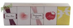 Nina Ricci 5 Pces Gift Set Miniature Variety For Women#x27;s New All In Box $41.90