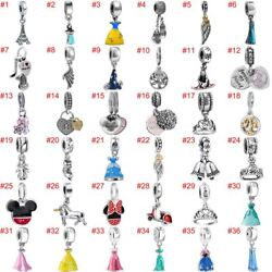 European Charms Silver Beads Pendant CZ Fit 925 Sterling Bracelet Necklace Chain