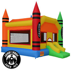 Crayon Theme Bounce House Jumper Castle Bouncer Inflatable Only $349.99