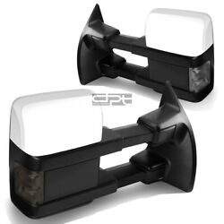 Fit 08 16 Ford Superduty PowerHeatedSmoked Signal Led Towing Side Mirror Pair $158.88