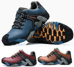 Mens Hiking leather boots Shoes Athletic Trekking Trail Outdoor Non Slip Shoes $45.99