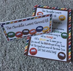 Chocolate Lovers Survival Kit DIY Novelty Birthday Anniversary Gift GBP 1.99