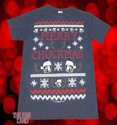 New Chuck Norris Merry Chuckmas Mens Christmas Vintage T Shirt $18.95