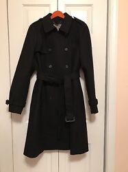 J.Crew Icon trench coat in Italian wool cashmere $365 black size 12 sold out