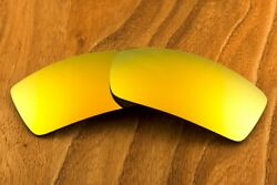 Metallic Gold Fire Sun Orange Polarized Mirror Sunglass Lenses for Oakley Gascan $8.99