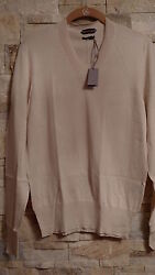TOM FORD MEN'S V-NECK IVORY COLOR SILKCOTTON SWEATER ITALY SIZE 48  S