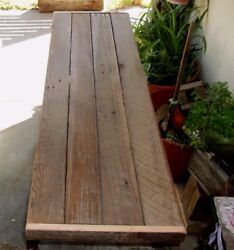 Rustic Reclaimed Wood Industrial Console Table Vintage Metal Base Urban Chic