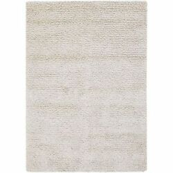 Chandra Rugs ZEA20600-913 White New Zealand Wool Shag Area Rug Hand Woven in Ind