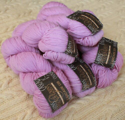 Lot 5 100gr hanks Cascade Yarns 220 Peruvian Highland Wool Yarn Lilac # 8912 NWT