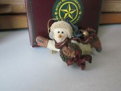 Boyds Vintage Snowman Ornament-----CHILLY WITH WREATH