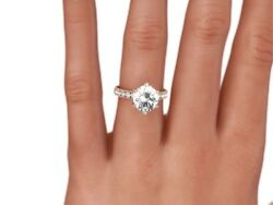 3 14 CT ROUND  EVS1 ENHANCED DIAMOND SOLITAIRE ENGAGEMENT RING 14K ROSE GOLD