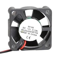 Small Brushless DC Cooling Fan 12V 30mm 3cm 30x30x10mm 3010S 2Pin 7 Blades $3.26