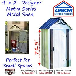 DSM42 Arrow Sheds Galvanized Steel Designer Series Metro Shed 4' x 2'