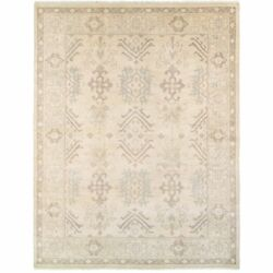 L and R Home Kareena Beige and Silver Wool Indoor Area Rug (12' x 15')
