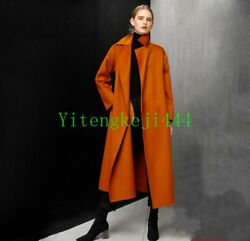 Luxury Winter Warm Women's 100% handmade cashmere wool coat Overcoat Parka New