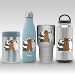 We Bare Bears Brother Decal Sticker for Yeti RTIC Swell Bottle Flask Tumbler Mug